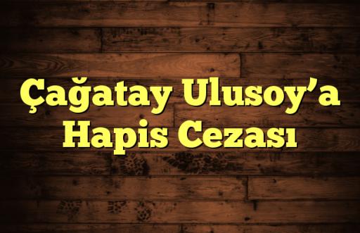 Çağatay Ulusoy'a Hapis Cezası