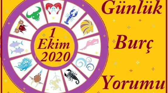 1 EKİM 2020 PERŞEMBE GÜNÜ BURÇ YORUMU
