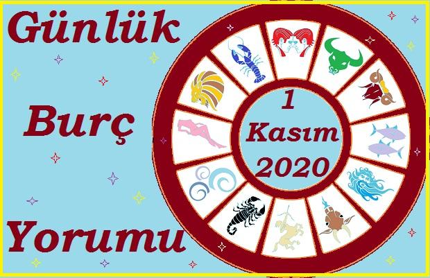1 KASIM 2020 PAZAR GÜNÜ BURÇ YORUMU
