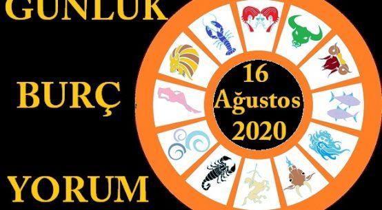 16 AĞUSTOS 2020 PAZAR GÜNÜ BURÇ YORUMU