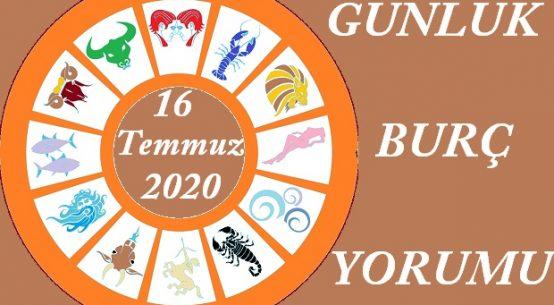 16 TEMMUZ 2020 PERŞEMBE GÜNÜ BURÇ YORUMU