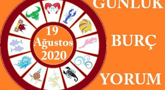 19 AĞUSTOS 2020 ÇARŞAMBA GÜNÜ BURÇ YORUMU