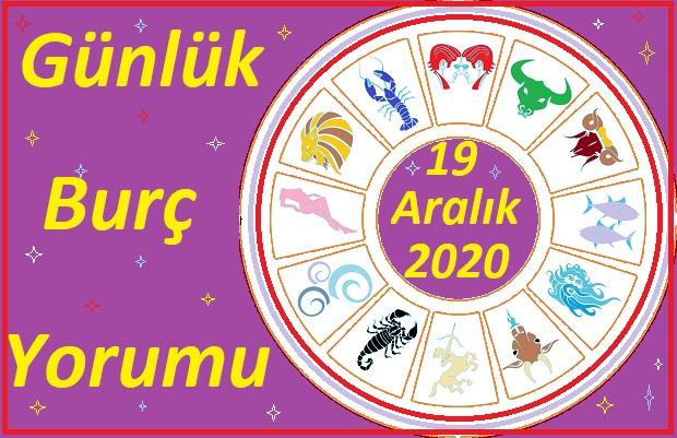 19 ARALIK 2020 CUMARTESİ GÜNÜ BURÇ YORUMU