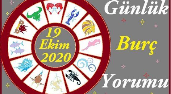 19 EKİM 2020 PAZARTESİ GÜNÜ BURÇ YORUMU