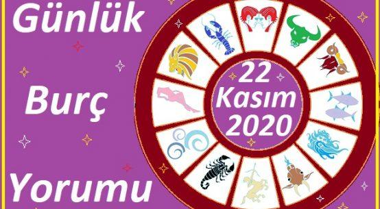 22 KASIM 2020 PAZAR GÜNÜ BURÇ YORUMU