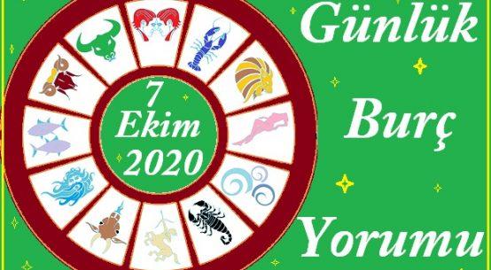 7 EKİM 2020 ÇARŞAMBA GÜNÜ BURÇ YORUMU