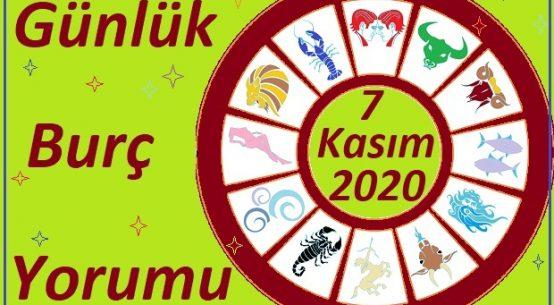 7 KASIM 2020 CUMARTESİ GÜNÜ BURÇ YORUMU