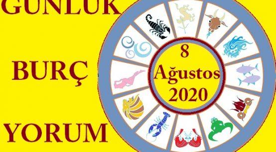 8 AĞUSTOS 2020 CUMARTESİ GÜNLÜK BURÇ YORUMUN