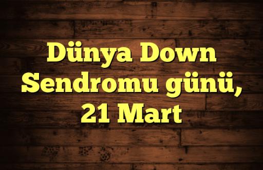 Dünya Down Sendromu günü, 21 Mart