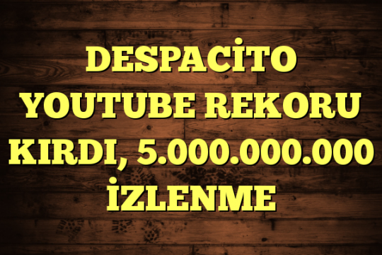 DESPACİTO YOUTUBE REKORU KIRDI, 5.000.000.000 İZLENME