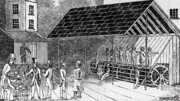 Koşu bandı 19. yüzyılda İngiltere'de cezalandırma şekli olarak kullanıldı