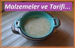 Pirinç pilavı için gerekli Malzemeler ve tarif